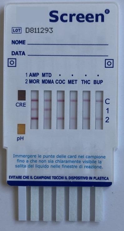 Test antidroga Card Multistrip DOA8 Drug Test